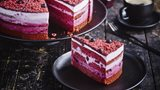 BLUEBERRY RED VELVET CAKE